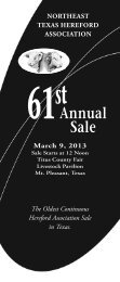 61st annual sale - American Hereford Association