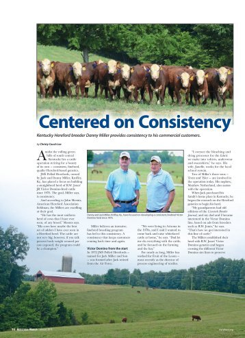 Centered on Consistency - American Hereford Association