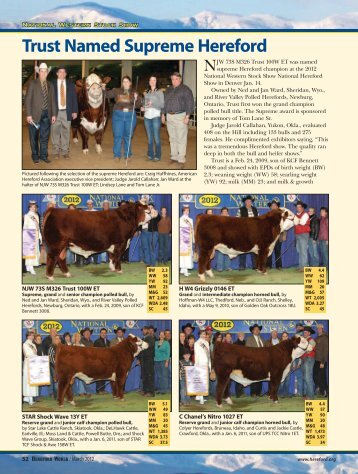 Trust Named Supreme Hereford - American Hereford Association