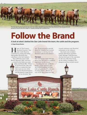 Follow the Brand - American Hereford Association