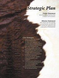 Strategic Plan Vision Statement - American Hereford Association