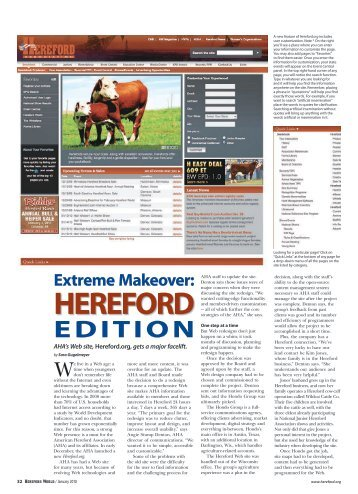 Extreme Makeover: EditiOn - American Hereford Association