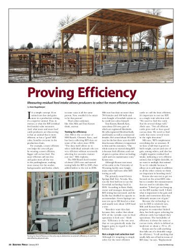 Proving Efficiency - American Hereford Association