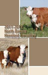 2011-2012 North Dakota Hereford Directory - Hereford America