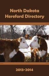 North Dakota Hereford Directory - Hereford America