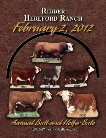 Annual Bull and Heifer Sale - Hereford America