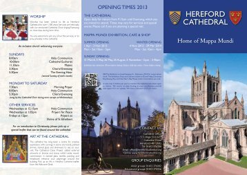 Click here to get the file - Hereford Cathedral
