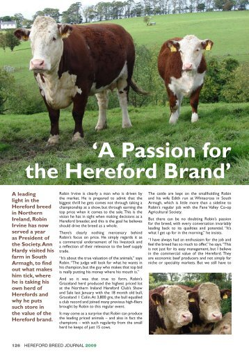A Passion for the Hereford Brand.pdf - Hereford Cattle Society