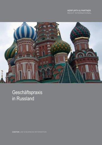 Geschäftspraxis in Russland - Herfurth & Partner