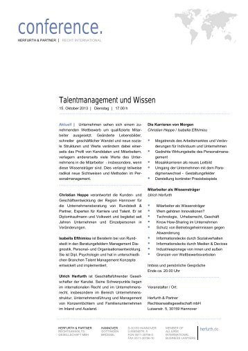 Talentmanagement - Herfurth & Partner
