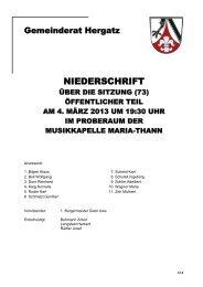 Protokoll der Sitzung Nr. 73 vom 04.03.2013 - Gemeinde Hergatz