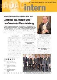 Stetiges Wachstum und umfassende Dienstleistung - ADAC Ortsclub ...