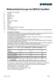 Wettbewerbsbestimmungen Supermoto 2014 - DMSB