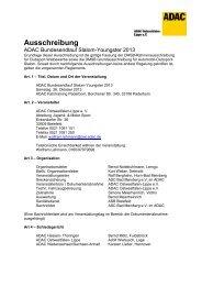 Ausschreibung - ADAC Motorsport