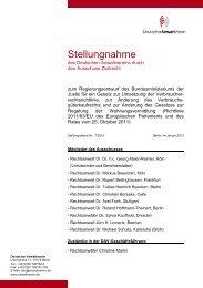 DAV-Stellungnahme Nr. 7/2013 - Deutscher Anwaltverein