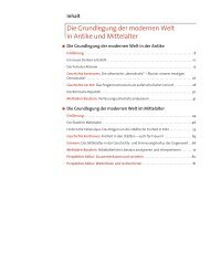 Die Grundlegung der modernen Welt in Antike und ... - CC Buchner