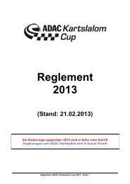 Reglement 2013 - ADAC