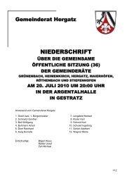 Protokoll der Sitzung Nr. 36 vom 20. Juli 2010 - Gemeinde Hergatz