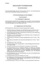 Geschäftsordnung für den Gemeinderat - Gemeinde Hergatz