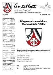 Gemeindeblatt Nr. 18 vom 08. September 2006 - Gemeinde Hergatz