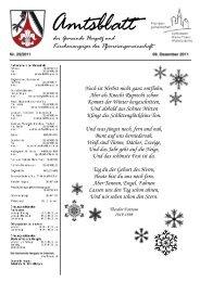 Gemeindeblatt Nr. 25 vom 09.12.2011 - Gemeinde Hergatz