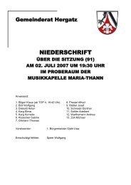 Protokoll der Sitzung Nr. 91 vom 02. Juli 2007 - Gemeinde Hergatz