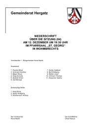 Protokoll der Sitzung Nr. 64 vom 12. Dezember 2005 - Gemeinde ...
