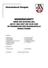 Protokoll der Sitzung Nr. 89 vom 07. Mai 2007 - Gemeinde Hergatz