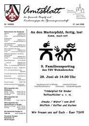 Gemeindeblatt Nr. 14 vom 27. Juni 2008 - Gemeinde Hergatz
