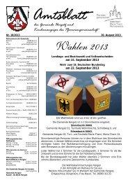 Gemeindeblatt Nr. 18 vom 30.08.2013 - Gemeinde Hergatz