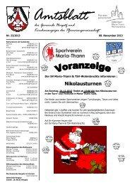 Gemeindeblatt Nr. 23 vom 08.11.2013 - Gemeinde Hergatz