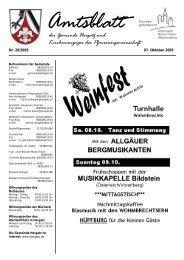 Gemeindeblatt Nr. 20 vom 07. Oktober 2005 - Gemeinde Hergatz