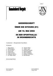 Protokoll der Sitzung Nr. 01 vom 10. Mai 2002
