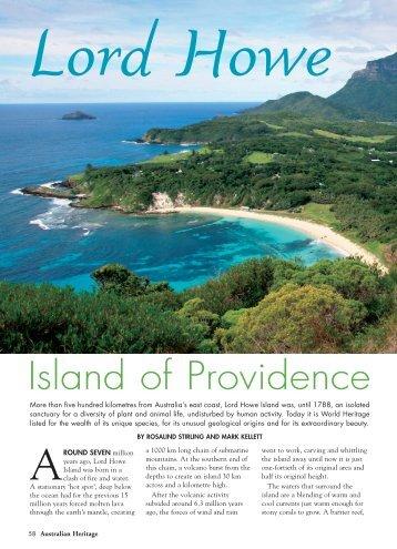 Heritage 0609_Lord Howe.pdf - Australian Heritage Magazine