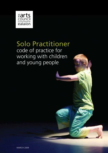 Solo practitioner code of practice for working with ... - Arts Council