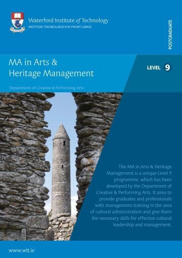 MA in Arts & Heritage Management - The Heritage Council