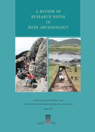 a review of research needs in irish archaeology - The Heritage Council