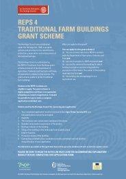 reps 4 traditional farm buildings grant scheme - The Heritage Council