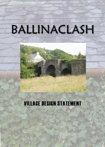 to download the Ballinaclash Village Design Statement