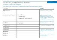 Heritage Council grants application form (Appendix 1)