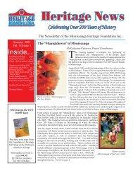 Volume 18, Issue 3 - Heritage News Summer 2005