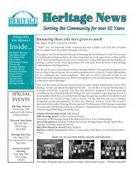 Heritage News Winter 2011 - Heritage Mississauga