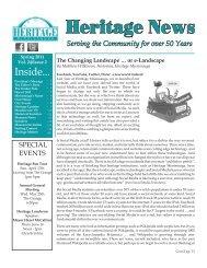 Volume 24, Issue 2 - Heritage News Spring 2011