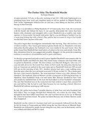 The Darker Side: The Rumbold Murder - Heritage Mississauga