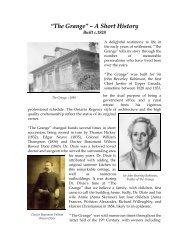 """The Grange"" – A Short History - Heritage Mississauga"