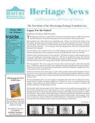 Volume 19, Issue 1 - Heritage News Winter 2006