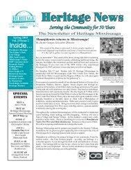 Volume 23, Issue 2 - Heritage News Spring 2010