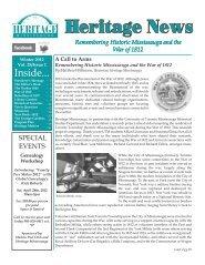 Winter 2012 Newsletter - Heritage Mississauga