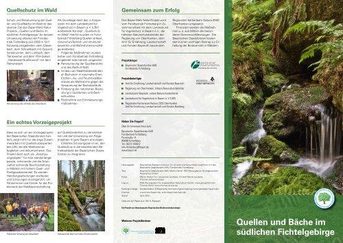 Quellen und Bäche im südlichen Fichtelgebirge - Bayerische ...