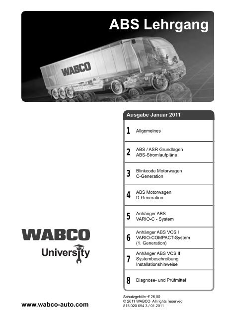 ABS Lehrgang - INFORM - WABCO on